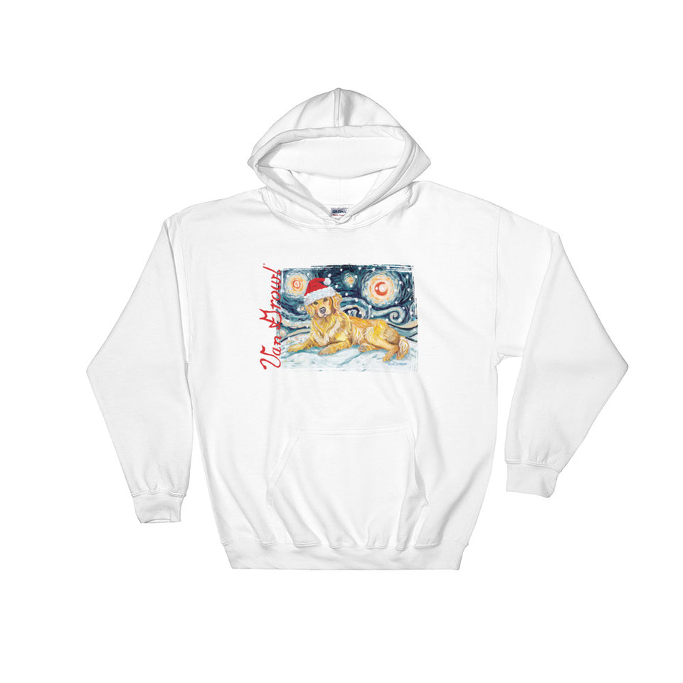 Golden Retriever Snowy Night Hoodie