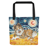 Collie (white stripe) STARRY NIGHT Tote