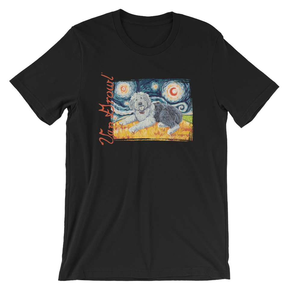 Old English Sheepdog STARRY NIGHT T-Shirt