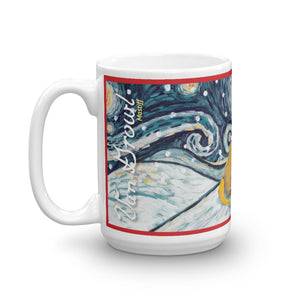 Mastiff Snowy Night Mug - 15oz