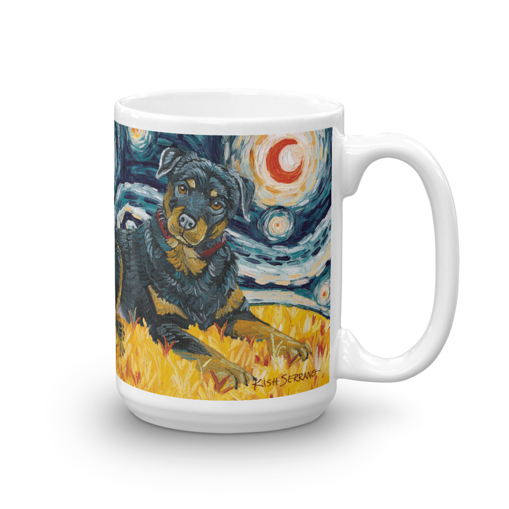 Rottweiler STARRY NIGHT Mug-15oz