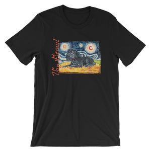 Poodle (black)  STARRY NIGHT T-Shirt