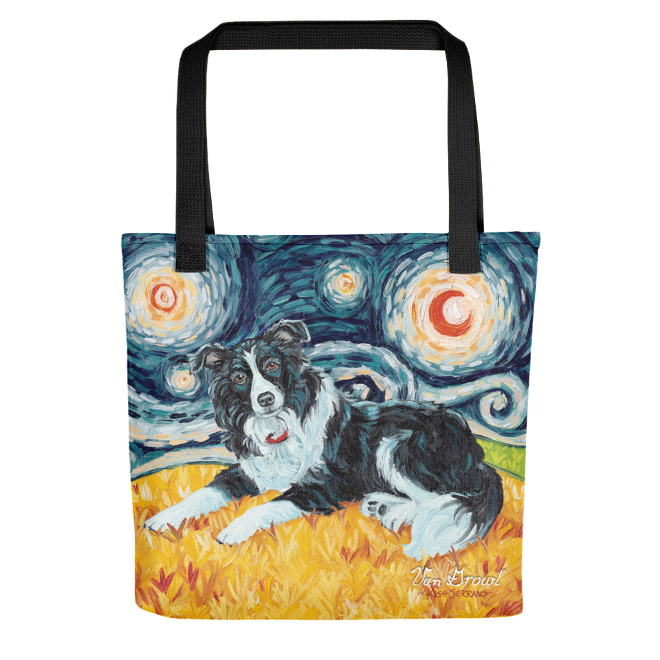 Border Collie STARRY NIGHT Tote