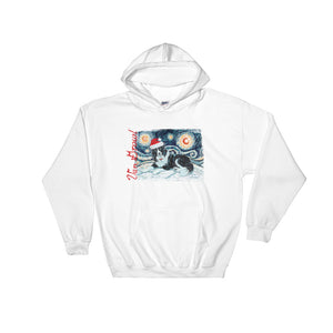 Border Collie Snowy Night Hoodie