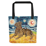 Labrador Retriever (chocolate) STARRY NIGHT Tote