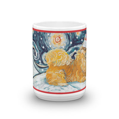 Pomeranian Snowy Night Mug - 15oz