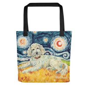 Doodle (cream) STARRY NIGHT Tote