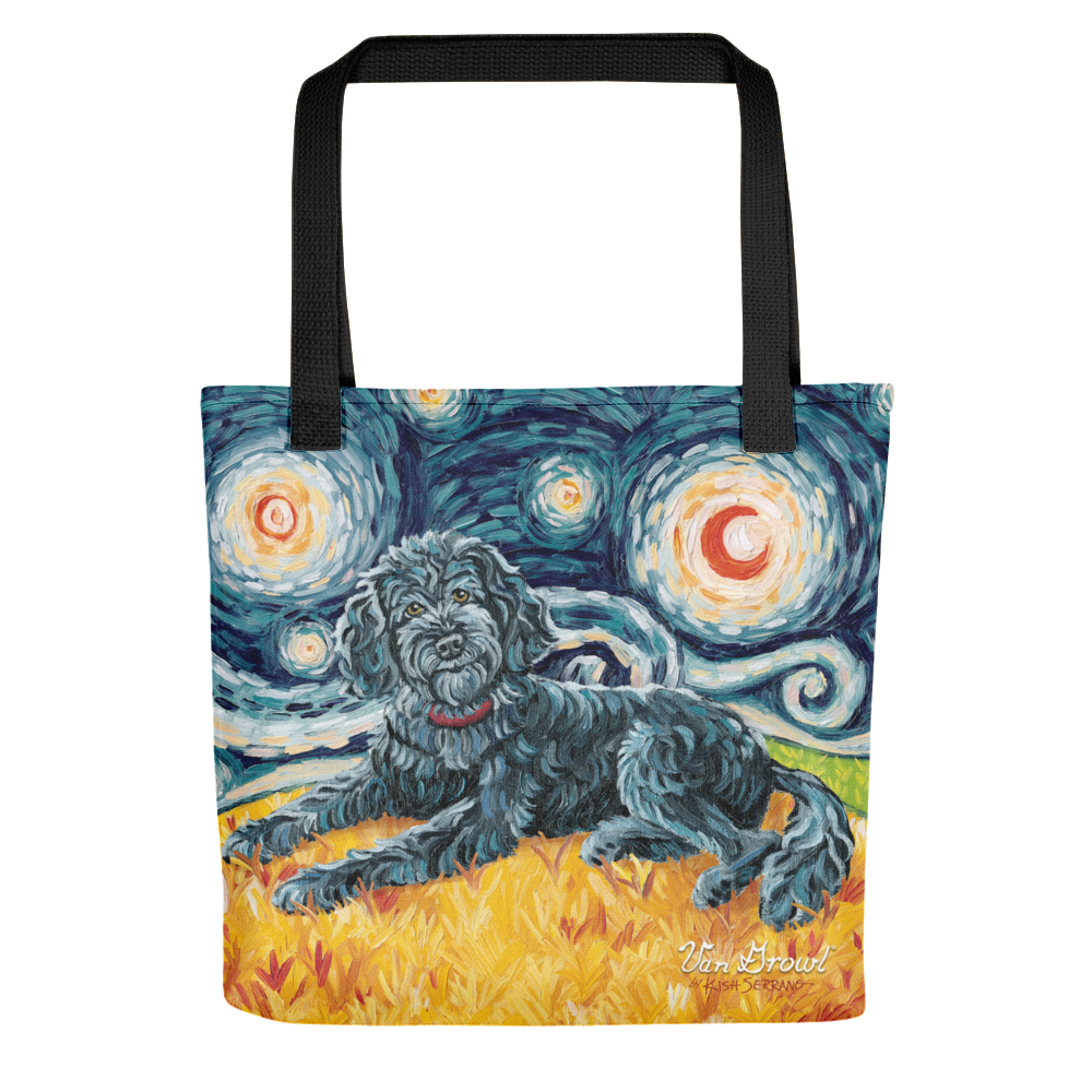 Doodle (black) STARRY NIGHT Tote