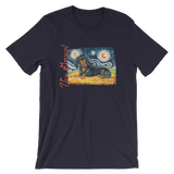 Dachshund (long haired black & tan) STARRY NIGHT T-Shirt