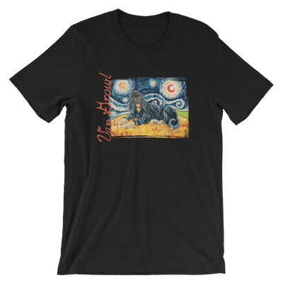 AFGHAN HOUND (black & tan) STARRY NIGHT T-Shirt