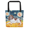 English Springer Spaniel STARRY NIGHT Tote