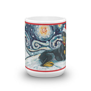 Doberman Pinscher Snowy Night Mug - 15oz