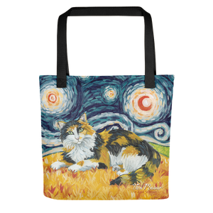 Calico (longhaired) STARRY NIGHT Tote