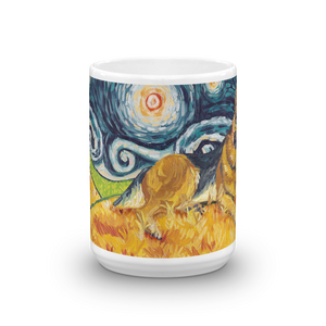 German Shepherd STARRY NIGHT Mug-15oz