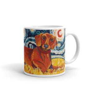 Dachshund (red) STARRY NIGHT Mug-15oz