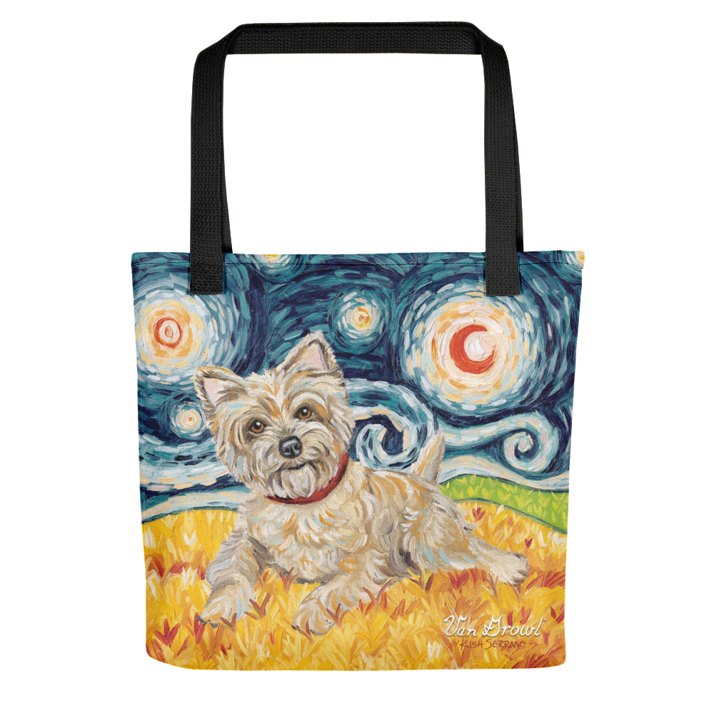 Cairn Terrier (light) STARRY NIGHT Tote