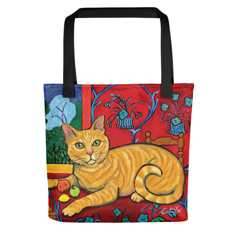 Matisse Orange Cat Tote Bag