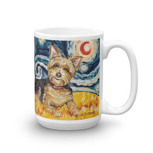 Yorkie STARRY NIGHT Mug-15oz