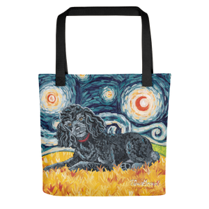 Poodle (black) STARRY NIGHT Tote