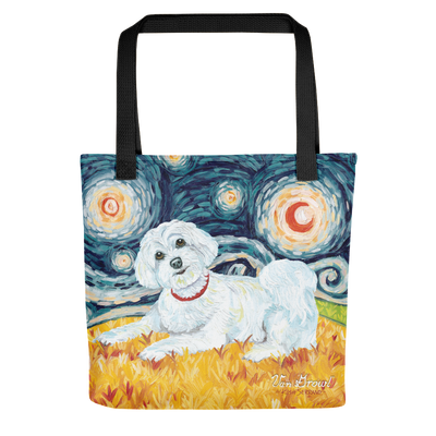 Maltese (puppy cut) STARRY NIGHT Tote