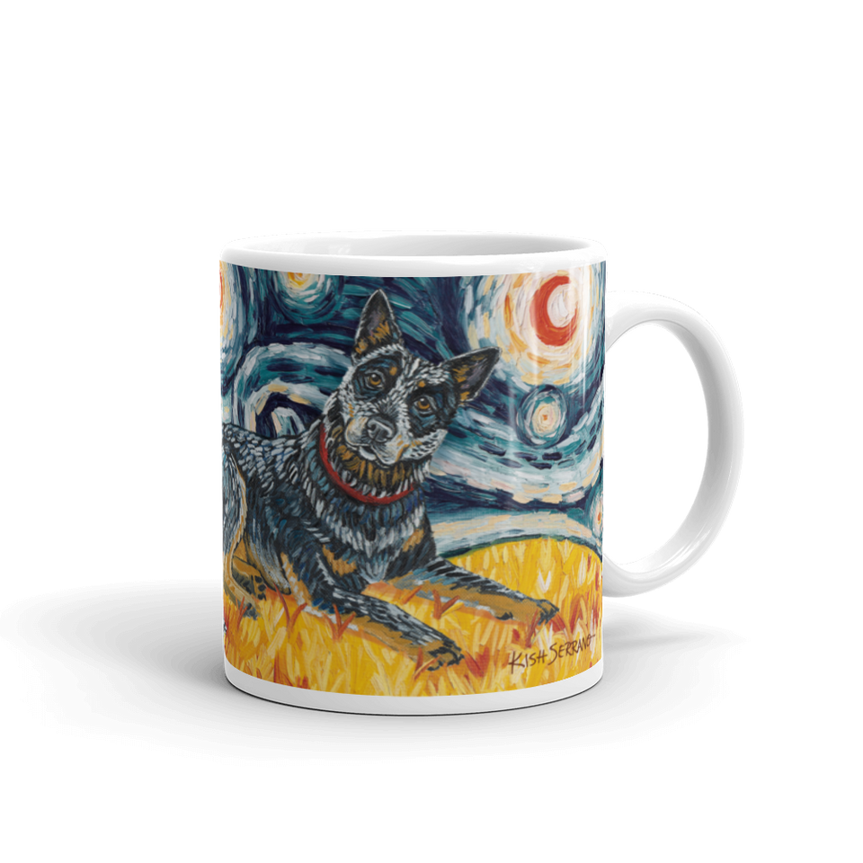 Australian Cattle Dog STARRY NIGHT Mug-15oz