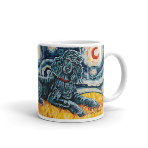 Poodle (Standard - black) STARRY NIGHT Mug-15oz