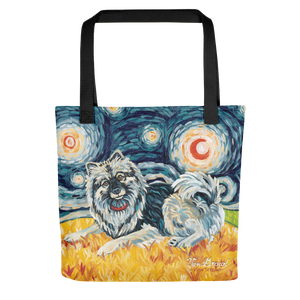 Keeshond STARRY NIGHT Tote