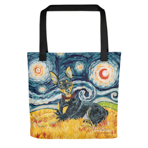 Miniature Pinscher STARRY NIGHT Tote