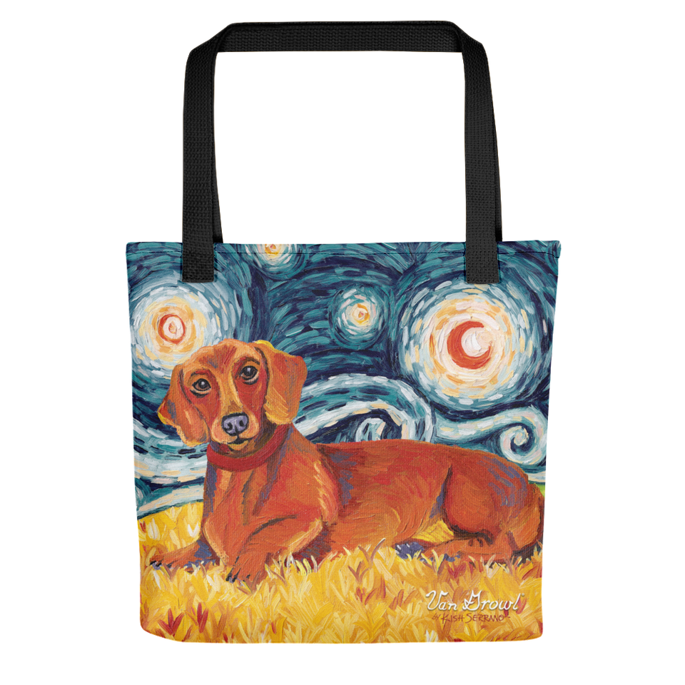 Dachshund (red) STARRY NIGHT Tote
