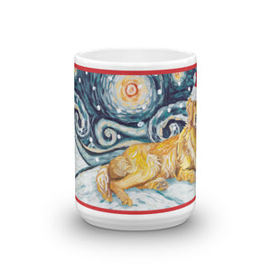 Golden Retriever Snowy Nigh Mug - 15oz