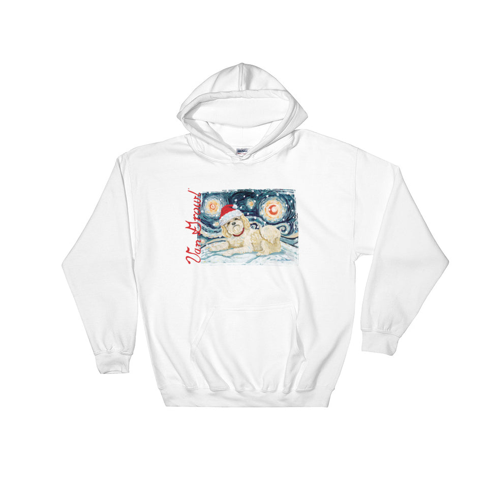 Shih Tzu (Light) Snowy Night Hoodie