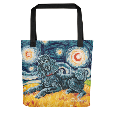Poodle  (Standard - black) STARRY NIGHT Tote