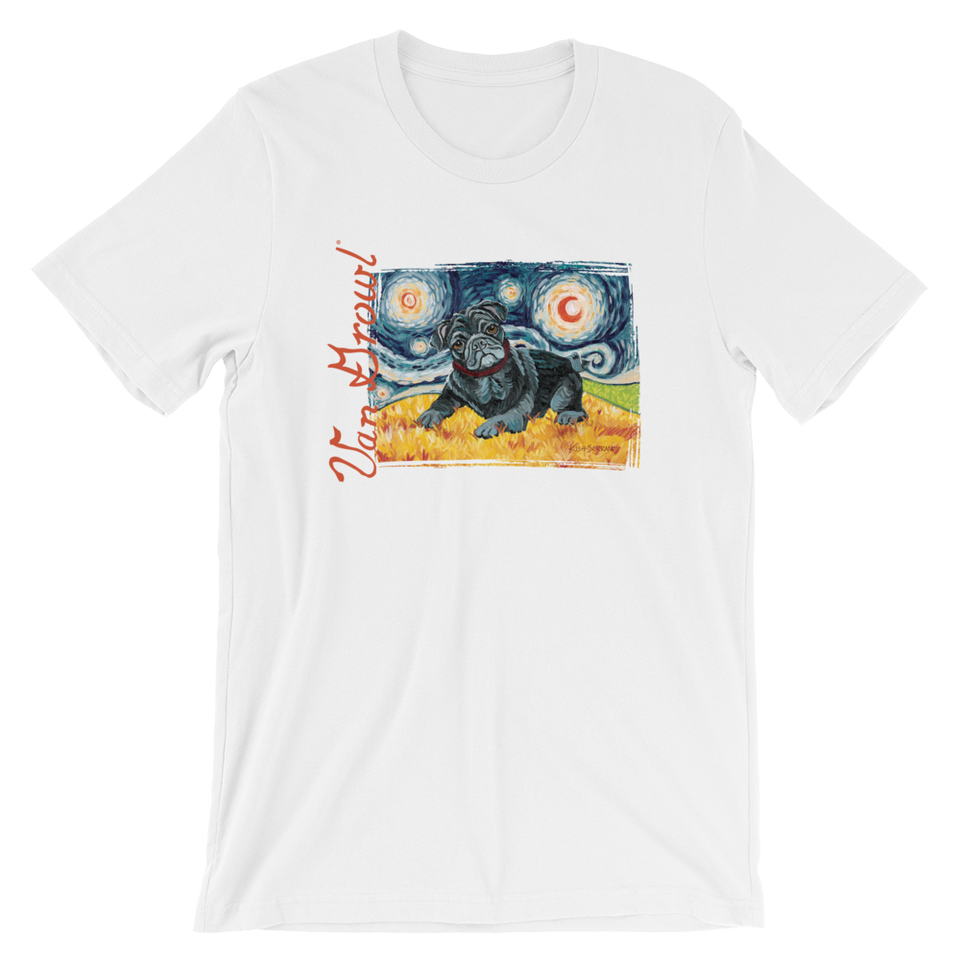 Pug (black) STARRY NIGHT T-Shirt