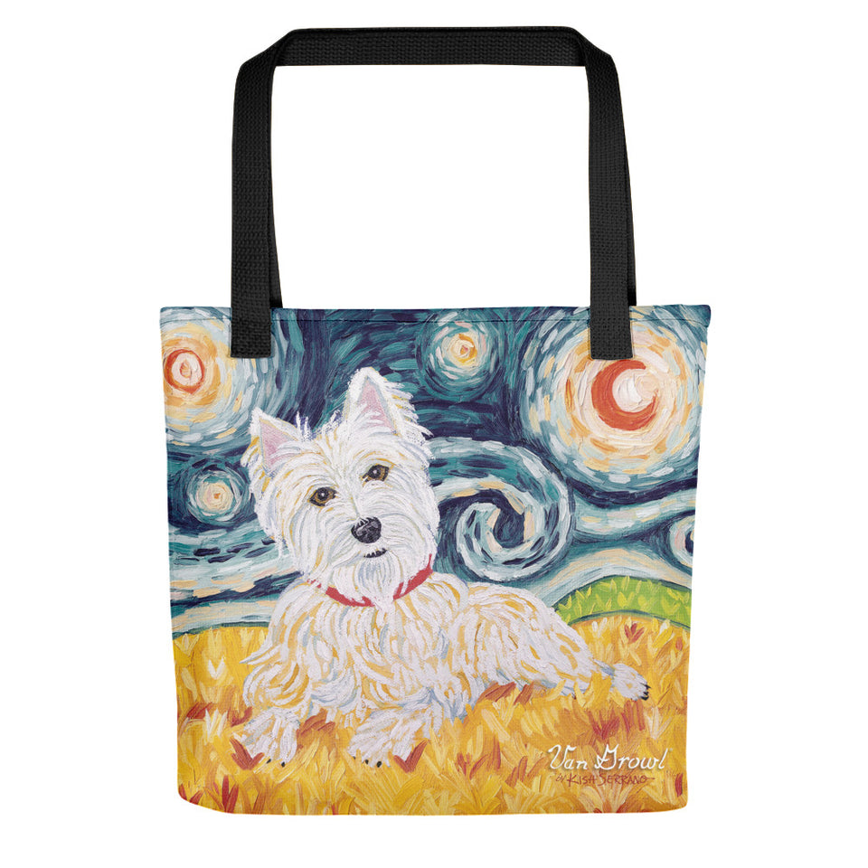 West Highland Terrier Van Growl Tote Bag