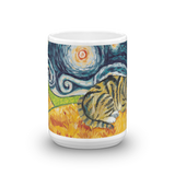 Tabby (shorthaired) STARRY NIGHT Mug - 15oz