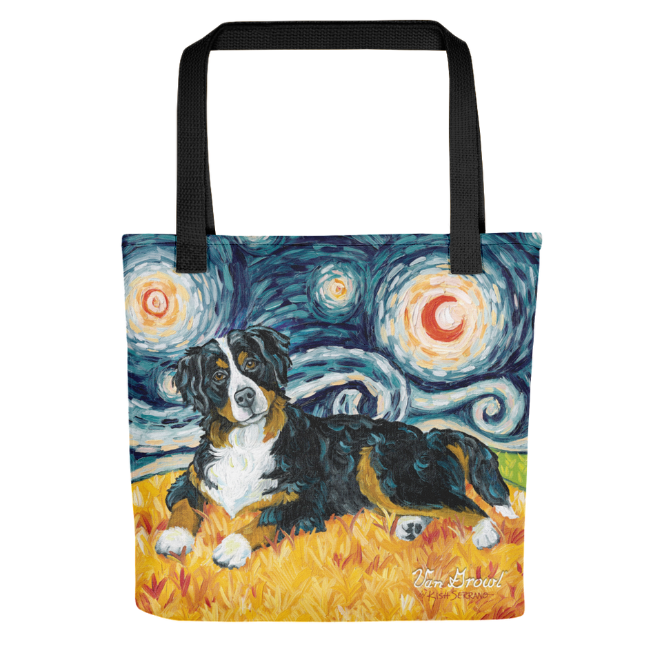 Bernese Mountain Dog STARRY NIGHT Tote