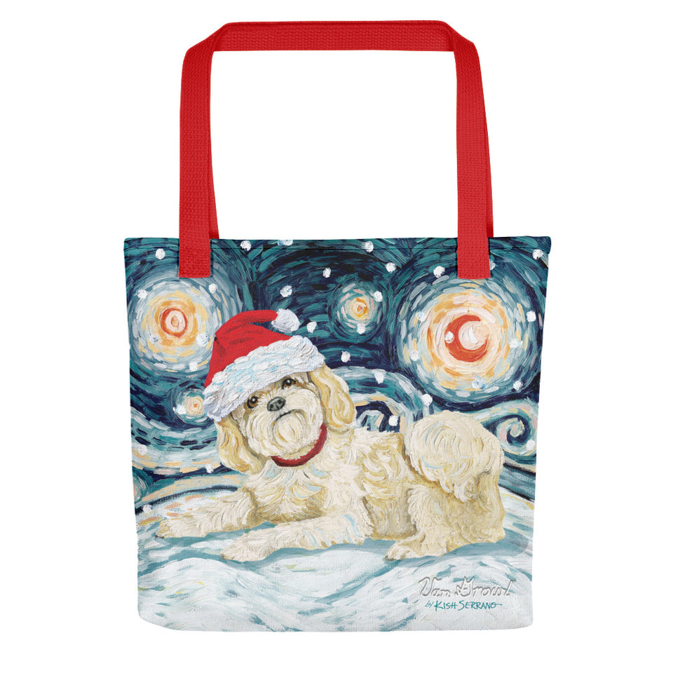 Shih Tzu (Light) Snowy Night Tote bag