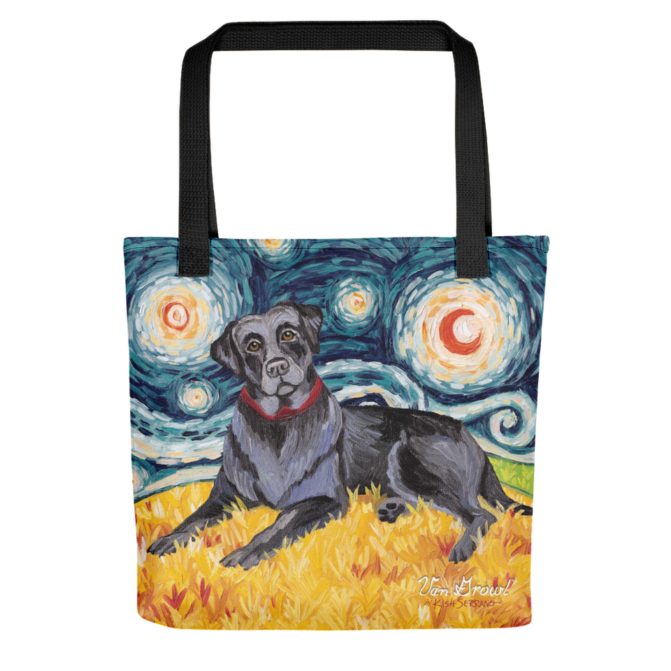 Labrador Retriever (black) STARRY NIGHT Tote