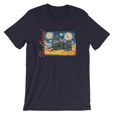 Chow (black) STARRY NIGHT T-Shirt