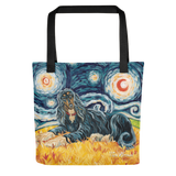 Afghan Hound (black & tan) STARRY NIGHT Tote