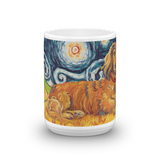 Dachshund (longhaired red) STARRY NIGHT Mug-15oz