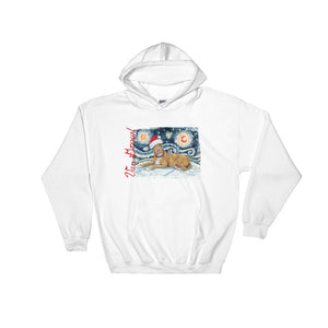 American Staffordshire Terrier (Tan) Snowy Night Hoodie