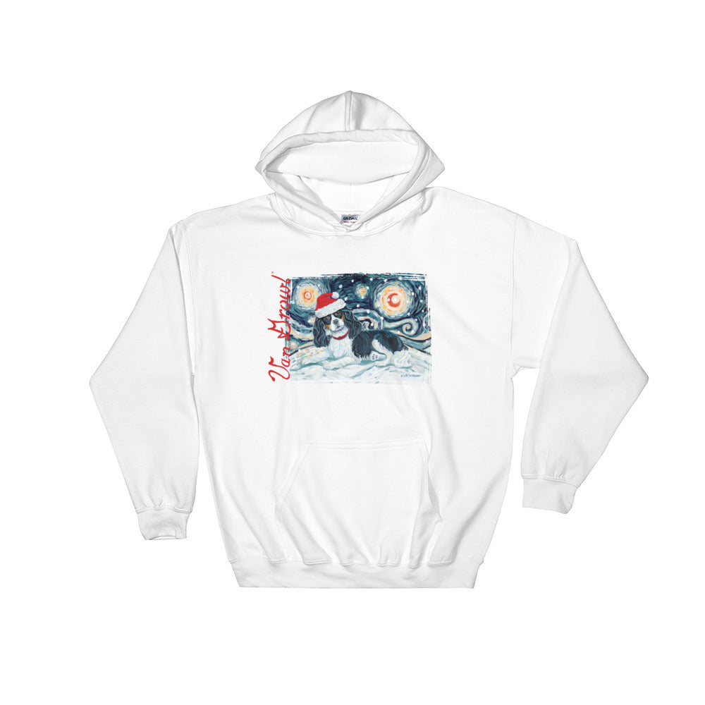 Cavalier King Charles (Tricolor) Snowy Night Hoodie