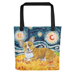 Corgi (Pembroke Welsh) STARRY NIGHT Tote
