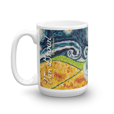 Great Pyrenees STARRY NIGHT Mug-15oz