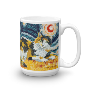 Calico (longhaired) STARRY NIGHT Mug - 15oz