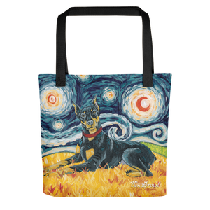 Doberman (cropped) STARRY NIGHT Tote