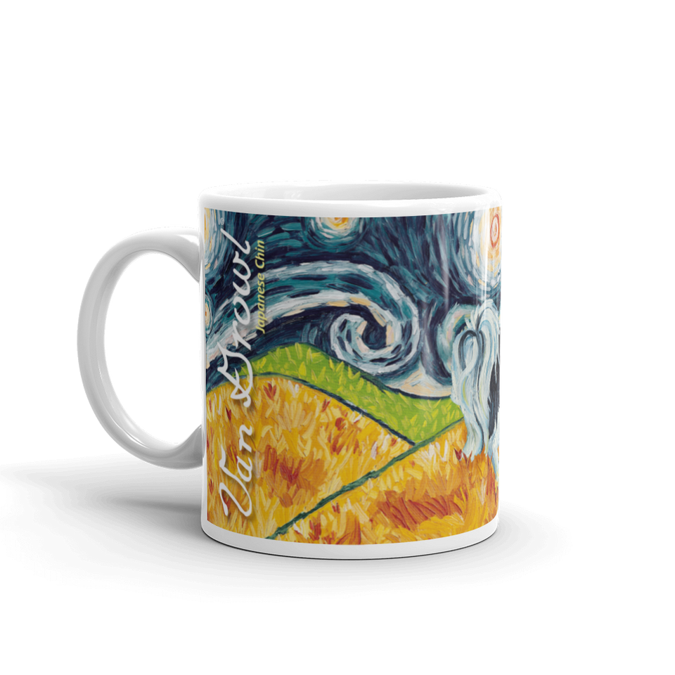Japanese Chin STARRY NIGHT Mug-15oz