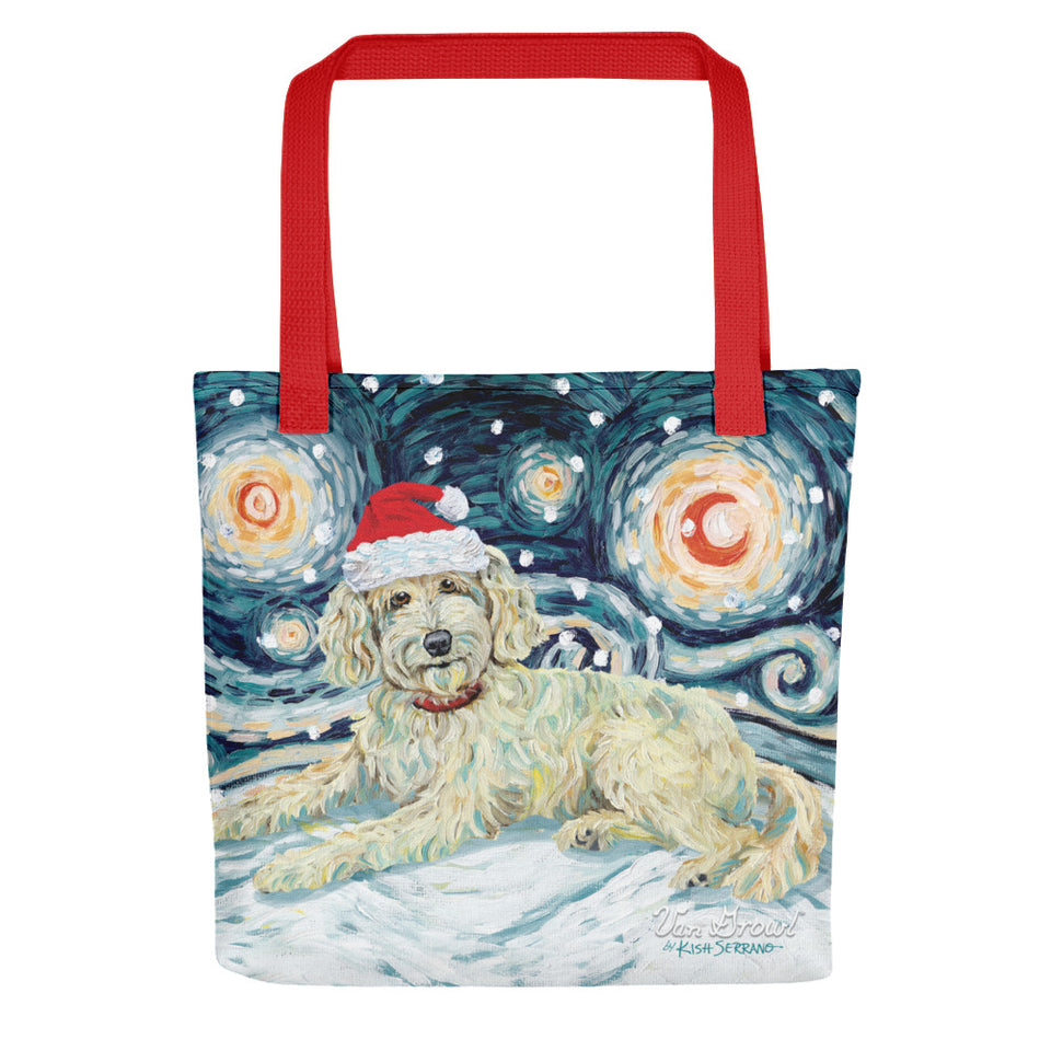 Doodle (Cream) Snowy Night Tote Bag