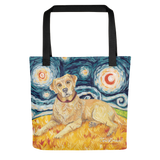 Labrador Retriever (yellow) STARRY NIGHT Tote